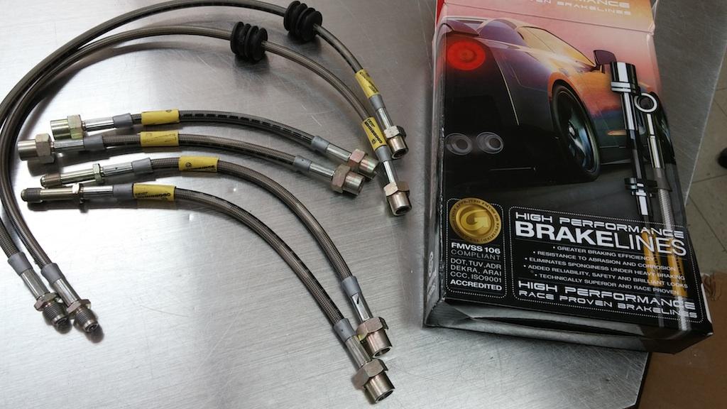 GOODRIDGE BRAIDED STD FRONT BRAKE HOSES fit BMW R1150RT ABS 01