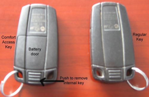 Non comfort access key battery life