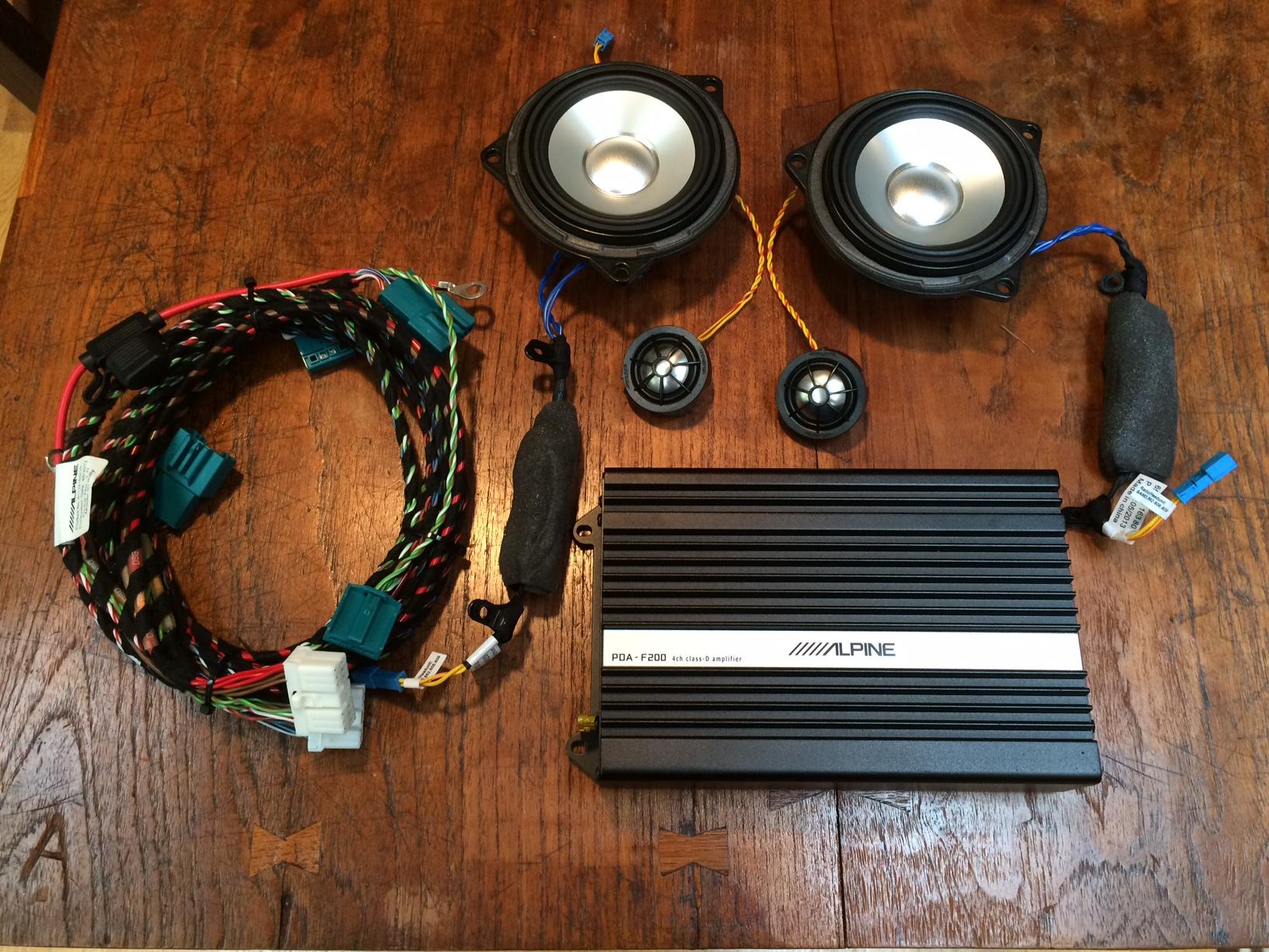 sold - alpine hifi stereo retrofit kit