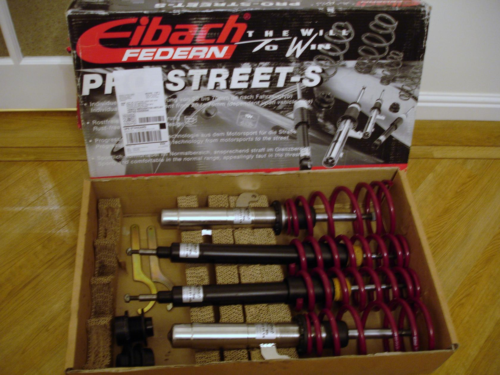 fs eibach pro street s coilovers for e87. Black Bedroom Furniture Sets. Home Design Ideas