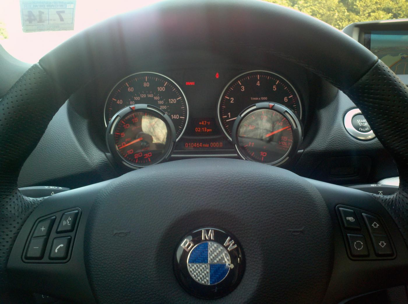 My N55 With 52mm Defi Race Gauges Install Boost And Volt