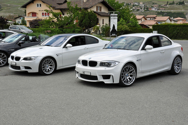 Alpine White 1m Coupe Vs Mineral White M3 Coupe Side By Side