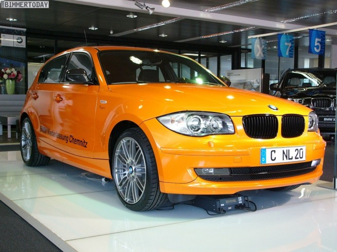 bmw niederlassung chemnitz builds a limited edition model orange 1er e87. Black Bedroom Furniture Sets. Home Design Ideas