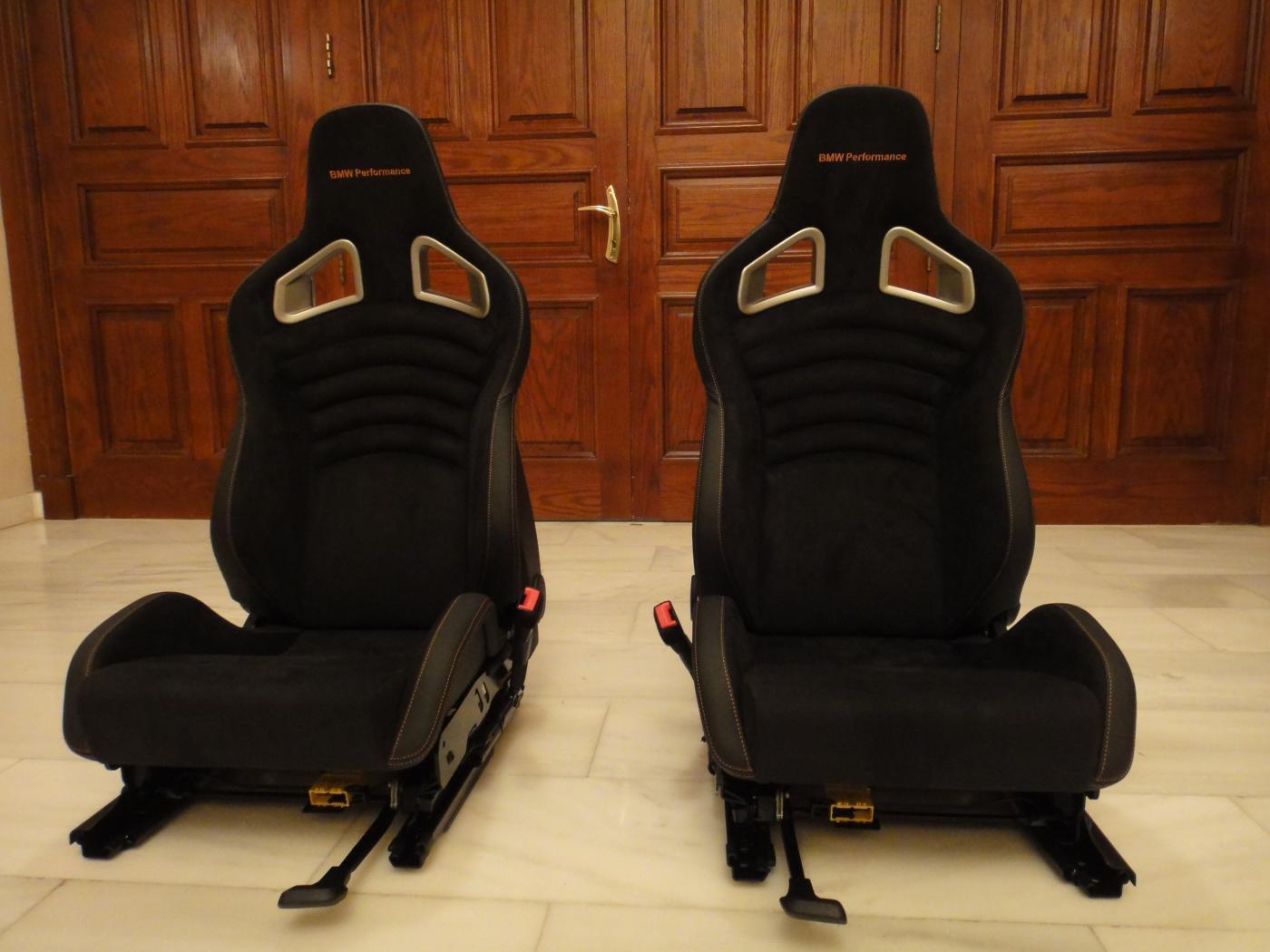 Bmw Performance Seats Amp Steering Wheel With Orange Stitching