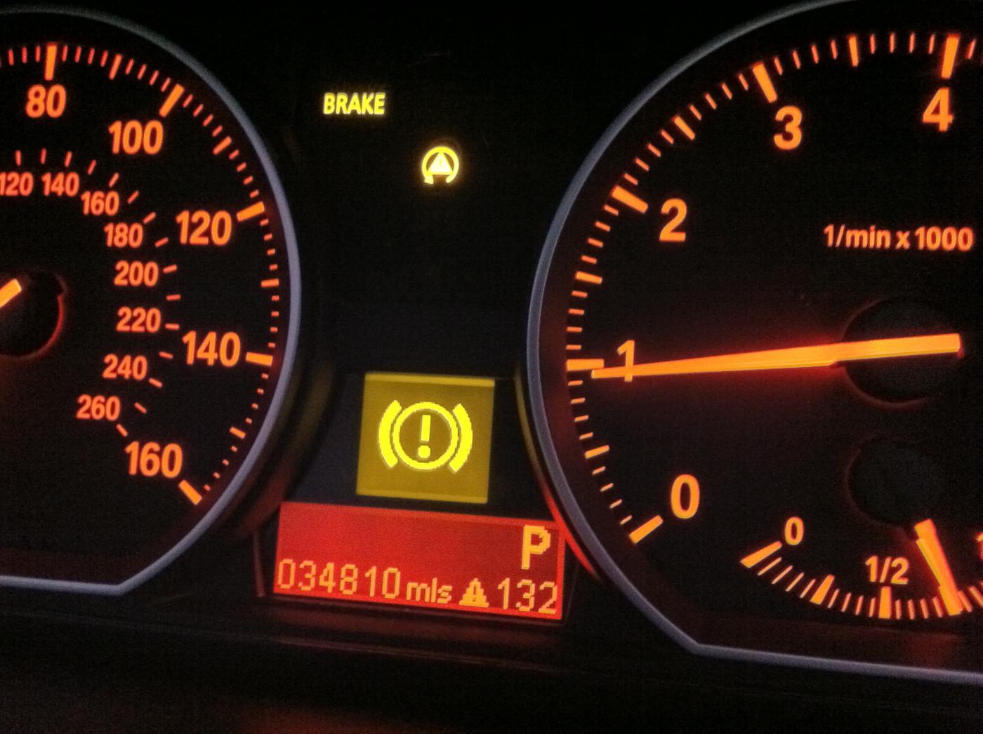 bmw e90 brake fluid symbol