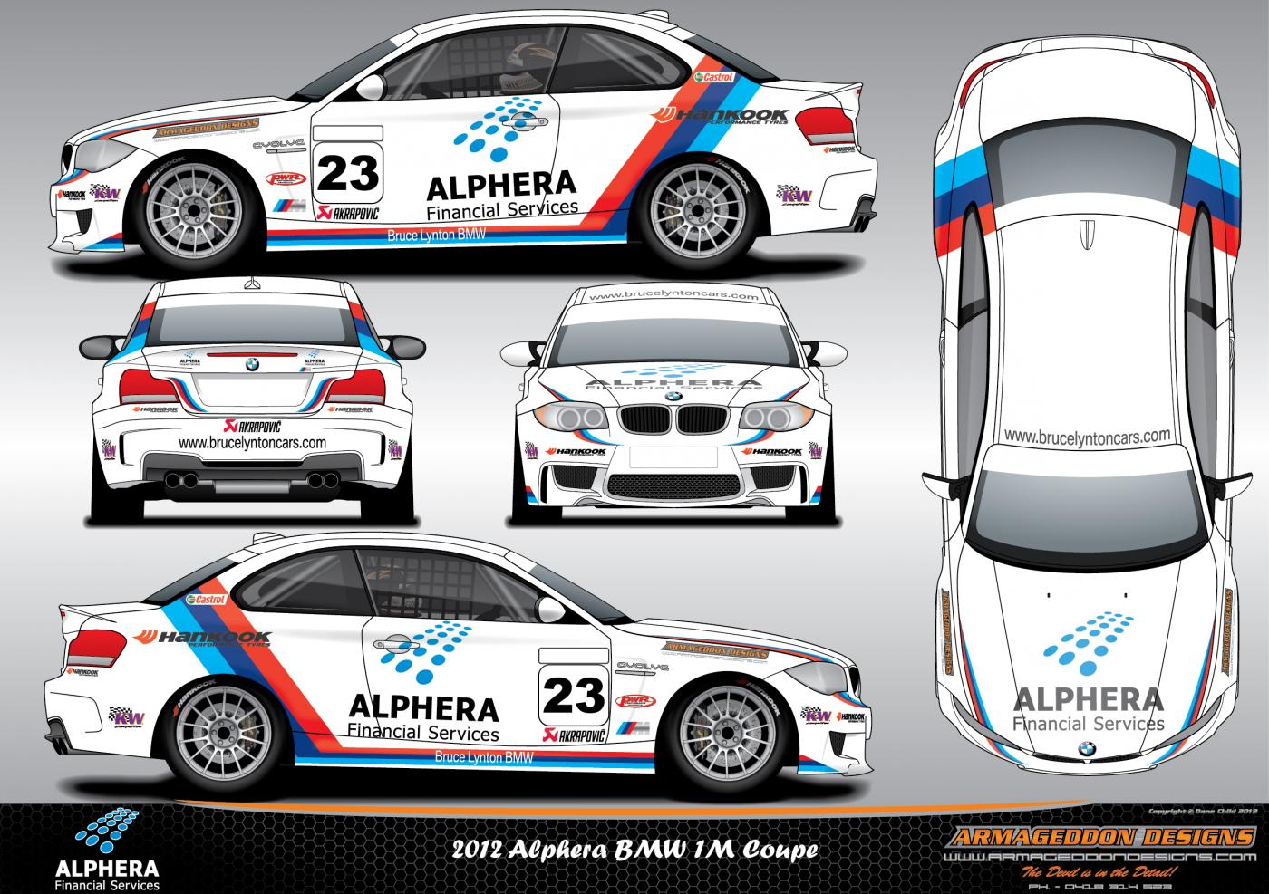 Race car sticker design - Attached Images