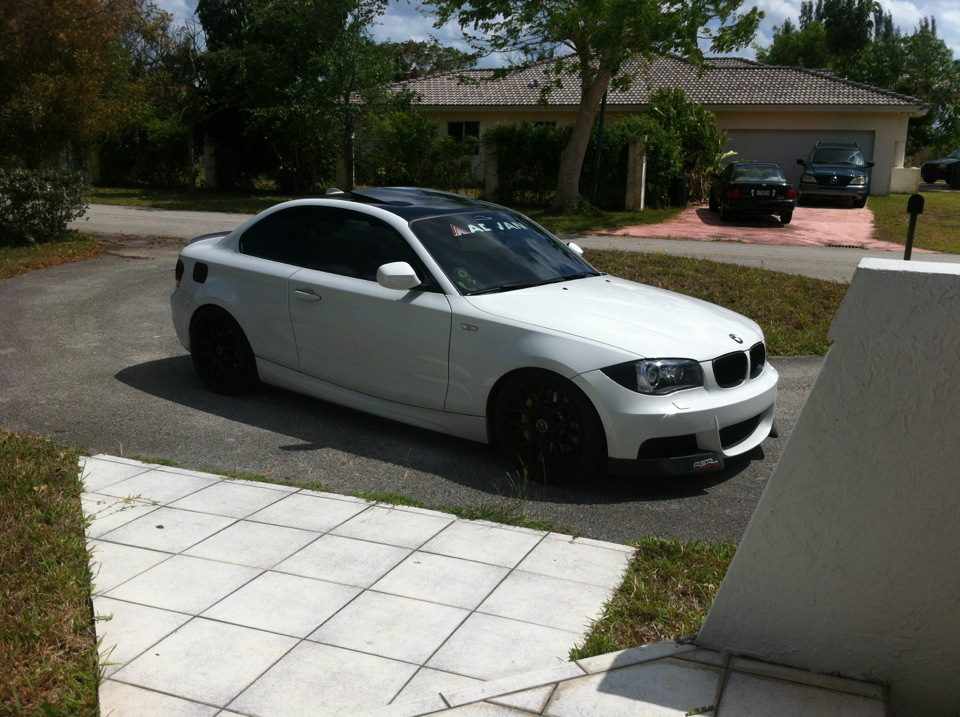Miami 2011 Bmw 135i White Coupe Modified For Sale Low Miles