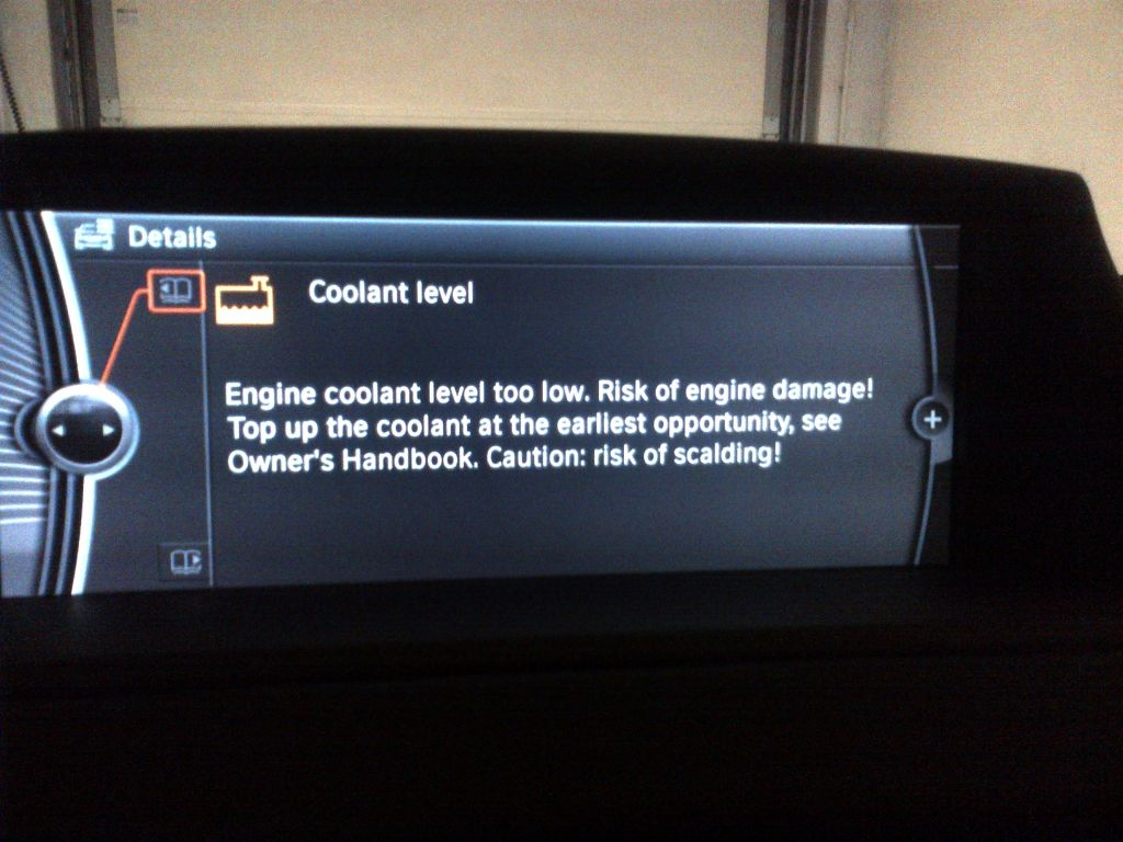 Quot Engine Coolant Level Too Low Quot Warning