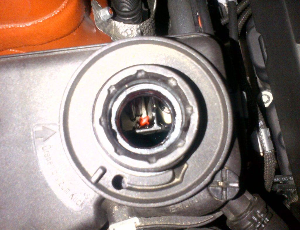 Engine coolant level too low warning