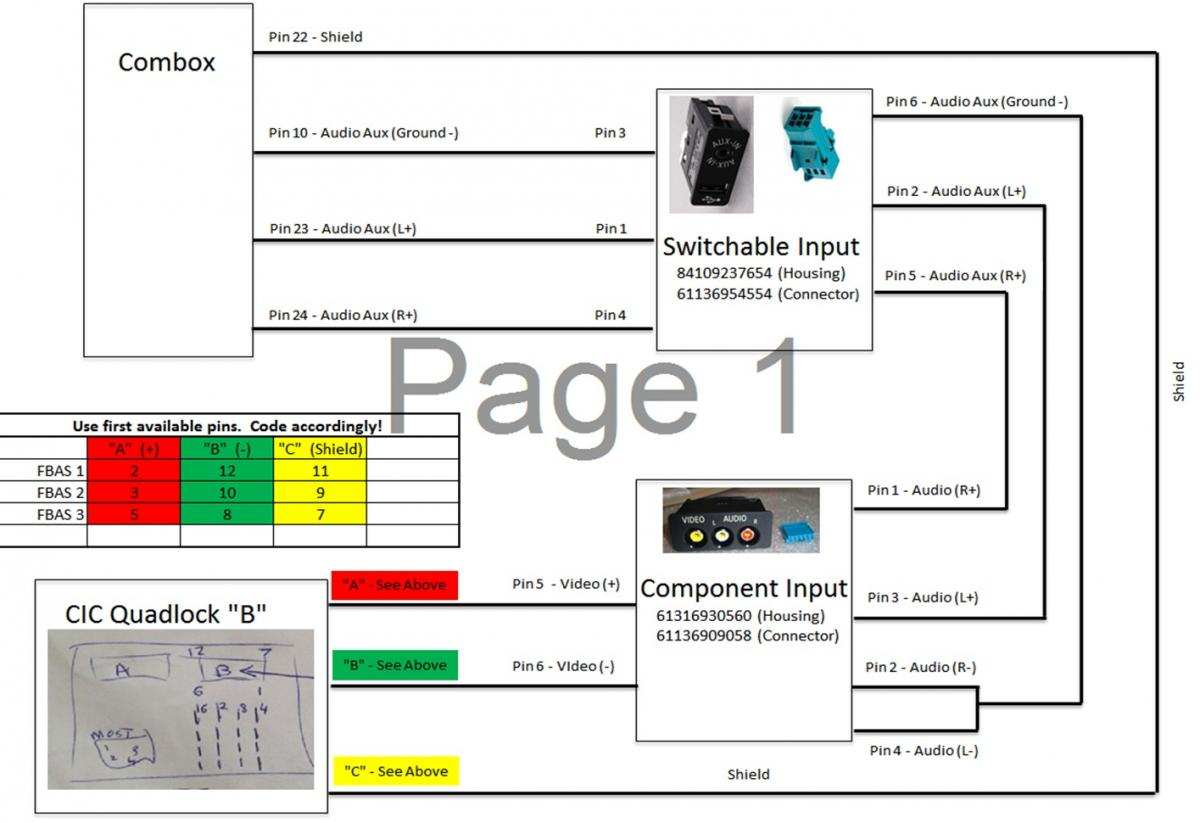 bmw combox wiring diagram cic retrofit first time installer! hifi upgrade, could do ... 2005 bmw 530i wiring diagram